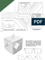 Sablon Cadran solar cubic multiplu