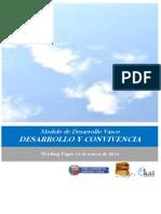 Modelo de Desarrollo Vasco. DESARROLLO Y CONVIVENCIA
