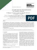 tratamiento de guas residuales t. versicolor