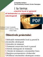 Tratamentul Osteomielitei