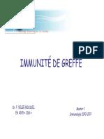 Immunite Greffes m1 2010 2011