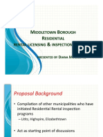 Middletown proposed rental housing licensing and inspection program