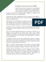 1.2. Fundamentos de Gestión de Procesos de Negocio (Bpm).