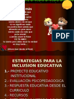 Estrategias Para La Inclusion Educativa