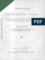 Constitucion de La Republica de Tunja