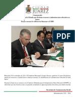 2014-11-19 Agradece Presidente Municipal al Estado por destinar recursos a infraestructura educativa en Juárez