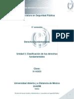 Unidad 3. Clasificacion de Los Derechos Fundamentales