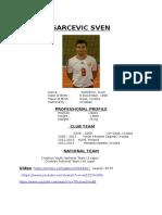 Sarcevic Sven Cv