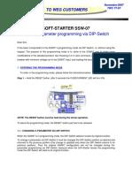 Weg SSW-07 Program via Dip Switch