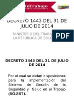 Divulgacion Decreto 1443 de 2014