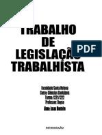 LEGISLAÇAO TRABALHISTA