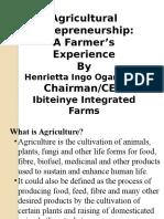 Agricultural Entrepreneurship