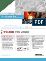 Spectro Metal Database en