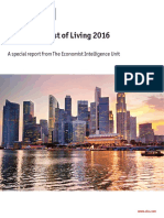 Worldwide Cost of Living 2016 Report