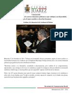2014-12-17 Exhorta Presidente Municipal a nuevos elementos policiacos a que trabajen con honestidad, respeto al marco jurídico y derechos humanos
