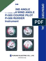 FI501 502 505 506 Operator's Manual