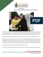 2015-02-11 Presidente Municipal Agradece Apoyo Federal y Pide Incremento de Los Beneficios