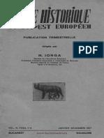 Revue Historique du Sud-Est Européen, 04 (1927), 1