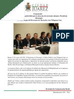 2015-02-17 Juárez mantiene competitividad para la atracción de inversión extrajera- Presidente Municipal