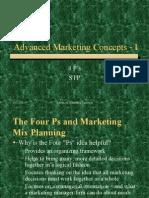 Advanced Marketing Concepts I