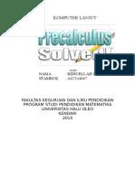 contoh rpp dan bahan ajar dalam materi matriks dengan menggunakan aplikasi pre calculus solved
