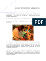 La Organización y Eficiencia en La Actividad Procesal en El Sistema Penal Acusatorio