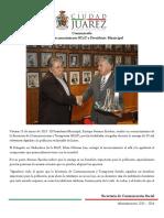 2015-03-13 Entrega Reconocimiento SCyT a Presidente Municipal