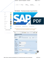 TX Importantes en SAP