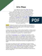 arte de los mayas Info de Español