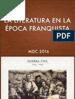 La literatura del franquismo