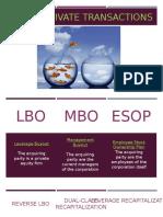 LBO, MBO Recapitalization