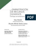 Capítulos 3 4 y 5 Dessler y Varela Enfoque Latinoamericano Administracin-De-Recursos-Humanos