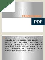 POROSIDAD PRESENTACION SOLIDIFICACION