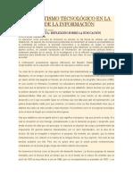Analfabetismo Tecnológico en La Sociedad de La Información