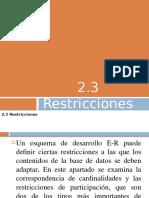 Restricciones en Base de Datos