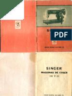 Singer 191 V 21 Manual de Instrucciones