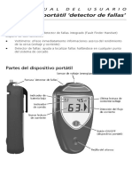 Manual Speedrite Detector de Fallas de Cerco