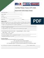 Fitness Assessment Information Form Robi