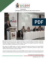 2015-06-10 Agradece Presidente Municipal apoyo en beneficio de niños y jóvenes juarenses