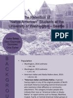 success and retention of native american students   uw