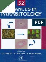 Advances in Parasit Ology