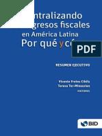 BID Descentralizando Ingresos Fiscales America Latina Resumen Ejecutivo