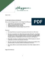 Haggen layoff warning
