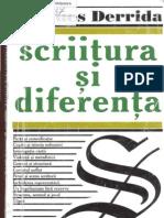 Derrida, Scriitura Si Diferenta