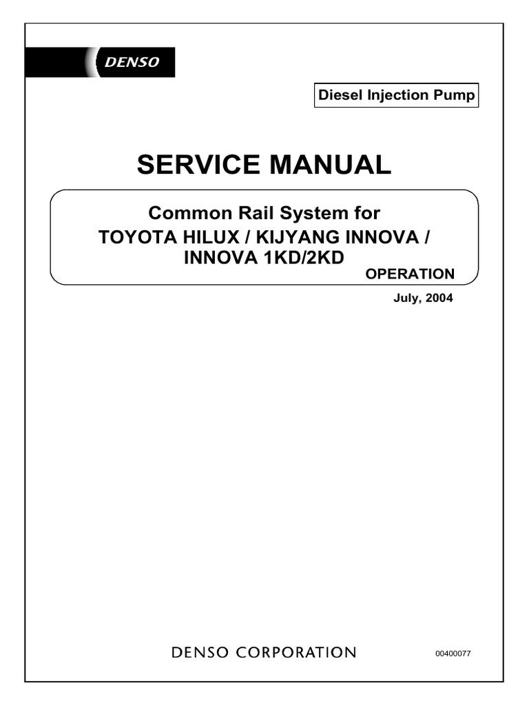 toyota hilux kijyang innova 1kd 2kd pdf rh scribd com 2004 Kijang Innova manual service toyota innova pdf