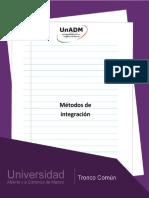 Unidad 3. Metodos de Integracion