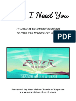 """Lord I Need You"" Easter Devotionals"