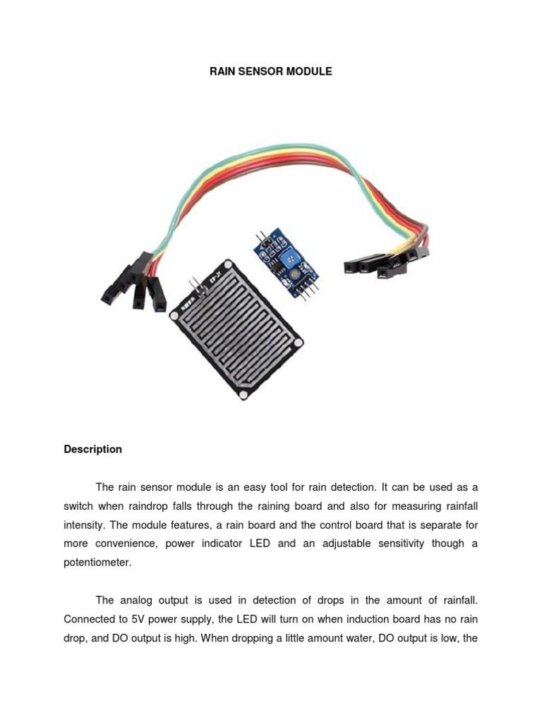 Rain Sensor Module Arduino Electrical Components Detector Circuit Diagram Using 8051