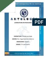 ANTOLOGIA PSICOFARMACOLOGÍA