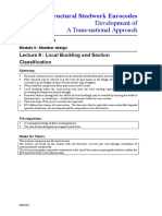 Module 4 Member Design - Lecture 9 Local Buckling and Section Classification